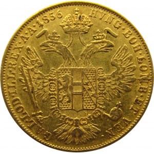 Austria, Franciszek Józef I, dukat 1856, Wiedeń, ładny