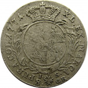 Stanisław A. Poniatowski, dwuzłotówka 1771 I.S., rzadszy rocznik