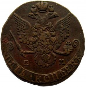 Rosja, Katarzyna II, 5 kopiejek 1781 E.M., Jekaterinburg