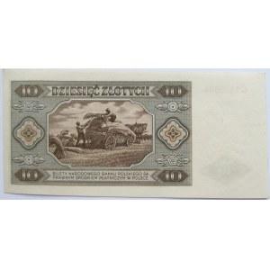 Polska, RP, 10 złotych 1948, seria C, stan I/I-
