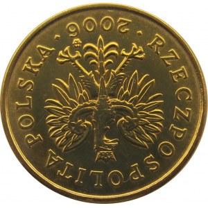 Polska, III RP, destrukt-odwrotka, 2 grosze 2006 o 180 stopni
