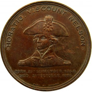 Wielka Brytania, medal admirał Nelson i okręt flagowy Foudroyant