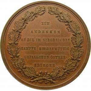 Austria, medal poległym w wojnie niemiecko-duńskiej 1864r, super stan!