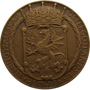Szwecja, medal z wystawy rolniczej w Skänninge 1929, E. Lindberg, super stan!