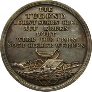 Niemcy, Prusy, srebrny medal Cnota... ok. 1800 roku, sygnowany G. Loos