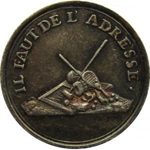 Francja, żeton  wynagrodzenie za naturę, srebro