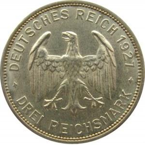 Niemcy, Republika Weimarska, 3 marki 1927, 450 lat Uniwersytetu w Tubingen, Stuttgart