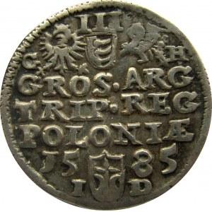 Stefan Batory, trojak 1585, Olkusz, bardzo ładny