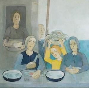 Kiejstut BEREŹNICKI (ur. 1935), Scena rodzajowa przy stole
