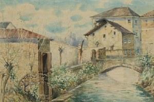 Erno ERB (1890-1943), Motyw z włoskiego miasteczka Oderzo, 1918