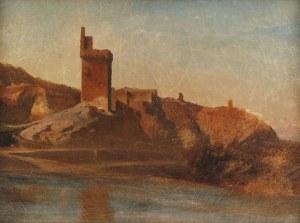 Teofil KWIATKOWSKI (1809-1891), Pejzaż śródziemnomorski z ruinami średniowiecznego zamku