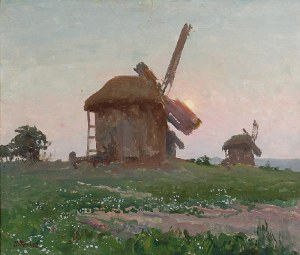 Iwan TRUSZ (1869-1940), Wiatraki o zachodzie słońca