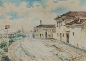 Erno ERB (1890-1943), Oderzo - Motyw z włoskiego miasteczka, 1918