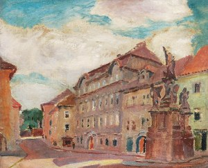 Ignacy PINKAS (1888-1935), Plac Maltański na Malej Stranie w Pradze, 1925