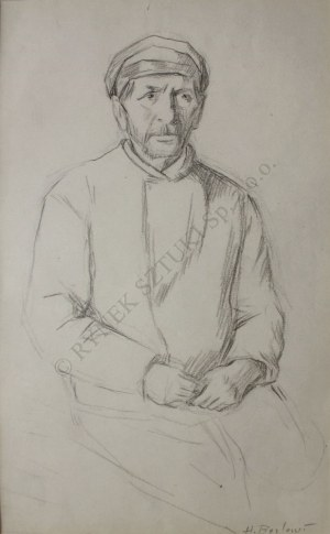 Henryk Berlewi (1894-1967), Siedzący Żyd