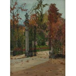 Józef Alfred Sipiński (1886 Poznań – 1968 tamże), Wejście do Ogrodu Botanicznego w Warszawie, 1925 r.