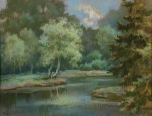 Wacław Żaboklicki (Zaboklicki) (1879 Zakrzew – 1959 Warszawa), W parku
