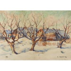 Zdzisław Kraśnik (1881 Gorzewo k. Sierpca – 1964 Warszawa), Wieś zimą