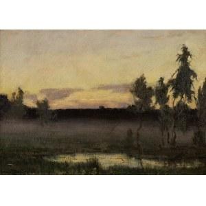 Stefan Domaradzki (1897 Niżny Nowgorod – 1983 Nandy pod Paryżem), Mokradła o zmierzchu, 1929 r