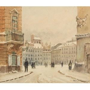 Franciszek Sunderland (1 poł. XX w.), Widok na Stary Rynek w Warszawie