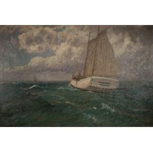 Leopold Schönchen (1855 Augsburg – 1935 Monachium), Żaglowce na morzu