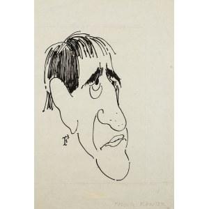 Jerzy Flisak (1930 Warszawa – 2008 tamże), Karykatura Tadeusza Kantora