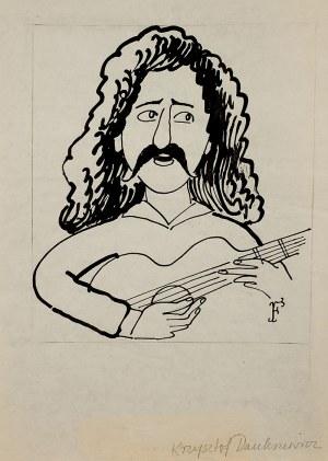 Jerzy Flisak (1930 Warszawa – 2008 tamże), Karykatura Krzysztofa Daukszewicza