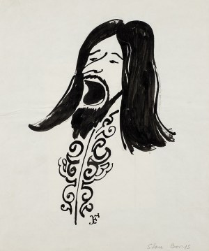 Jerzy Flisak (1930 Warszawa – 2008 tamże), Karykatura Stana Borysa