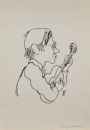 Jerzy Flisak (1930 Warszawa – 2008 tamże), Karykatura Macieja Zembatego