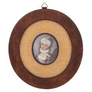 Anna Chamiec (1913-?), Miniatura – Portret damy, 1984 r.