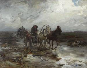Alfred Wierusz-Kowalski (1849 Suwałki – 1915 Monachium) Wozy na błotnistej drodze