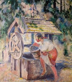 Kazimierz Sichulski (1879 Lwów – 1942 tamże) Przy studni, 1931 r.
