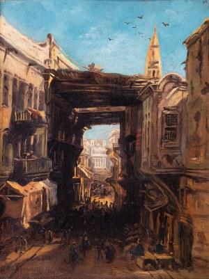 Eduard Hildebrandt (1817 Gdańsk – 1868 Berlin) Bazar w Kairze, 1860 r.