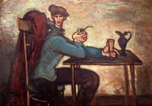 Stanisław Eleszkiewicz (1900 Czutowo k. Połtawy – 1963 Paryż) Mężczyzna z fajką