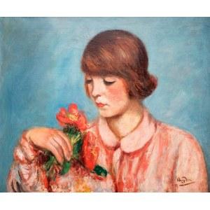 Henryk Hayden (1883 Warszawa – 1970 Paryż) Kobieta z kwiatami, lata 20. XX w.