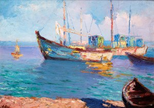 Erno Erb (1878 lub 1890 Lwów – 1943 tamże) Kutry rybackie