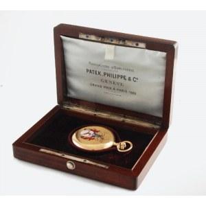 MANUFACTURE D'HORLOGERIE PATEK, PHILIPPE & Co, Zegarek kieszonkowy z herbem Jeleniej Góry, w etui firmowym, z certyfikatem