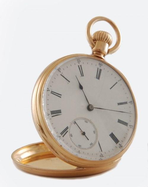 PATEK, PHILIPPE & Co, Zegarek kieszonkowy, męski, remontoir, w drewnianym etui