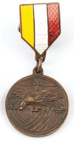 MINIATURA MEDALU ZWIĄZKU MŁODZIEŻY PRZEMYSŁOWEJ I RĘKODZIELNICZEJ, Polska, Kraków, ok. 1930