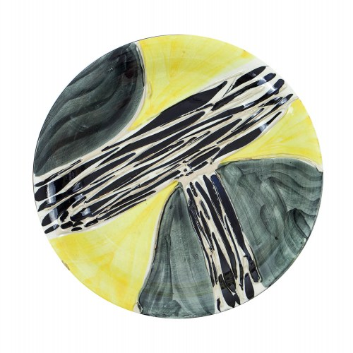 Talerz z dekoracją typu kora