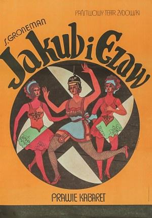 Marian STACHURSKI (1931-1980) – projekt, Plakat do przedstawienia: Jakub i Ezaw. Prawie Kabaret dla Państwowego Teatru Żydowskiego