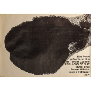 "Marek FREUDENREICH (ur. 1939) – projekt, Plakat do filmu ""Papillons de nuit"" w reżyserii Tomasza Zygadło"