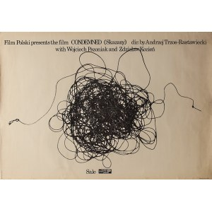 """Marek FREUDENREICH (ur. 1939) – projekt, Plakat do filmu CONDEMNED """"Skazany"""" w reżyserii Andrzeja Trzos-Rastawieckiego"""