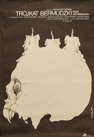 """Jakub EROL (1941-2018) - projekt, Plakat do filmu kryminalnego """"Trójkąt bermudzki"""" w reżyserii Wojciecha Wójcika"""