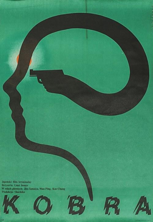 """Mieczysław WASILEWSKI (ur. 1942) - projekt, Plakat do filmu """"Kobra"""" w reżyserii Umeji Inoue"""