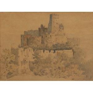 Aleksander GRYGLEWSKI (1833-1879), Pejzaż z ruinami zamku, 1863