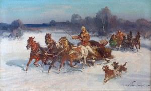 Czesław WASILEWSKI (ok. 1875-1946/47), Po polowaniu na łosia