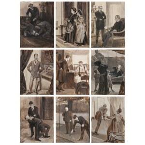 Wilhelm WACHTEL (1875-1942), Zestaw dziewięciu ilustracji do książki