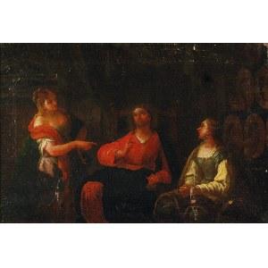 Malarz nieokreślony, flamandzki, XVII/XVIII w., Chrystus u Marii i Marty