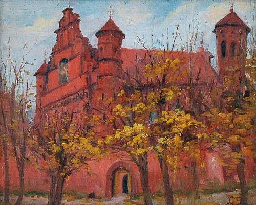 Ludomir BENEDYKTOWICZ (1844-1926), Widok na kościół jesienią